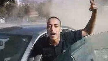 Mohamed Merah, après un rodéo en voiture.