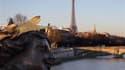 L'Ile-de-France a connu lundi un nouvel épisode de pollution atmosphérique aux particules fines, émises notamment par les moteurs diesel, mais le niveau d'alerte a été abaissé à celui d'information, une situation qui devrait durer mardi. /Photo prise le 1