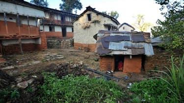 Une hutte dédiée à la pratique du chhaupadi au Népal.