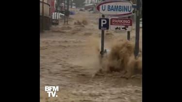 Corse: Des pluies torrentielles inondent une partie de la ville d'Ajaccio