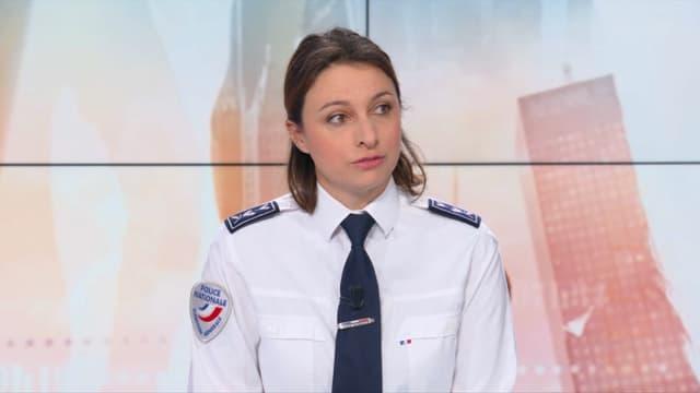 Camille Chaize, la porte-parole de la Police nationale sur le plateau de BFMTV le 19 janvier 2019.