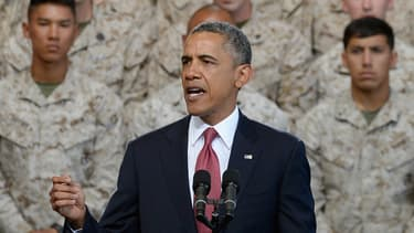 Barack Obama, mercredi, face à quelque 3.000 Marines.