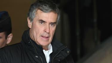 Jérôme Cahuzac le 21 février 2018 quittant le palais de justice de Paris