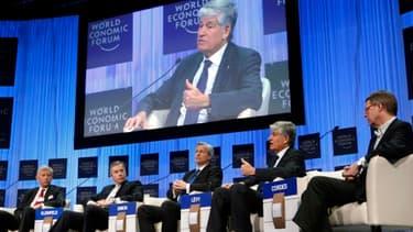 Le président du directoire de Publicis Maurice Levy à Davos en janvier 2011