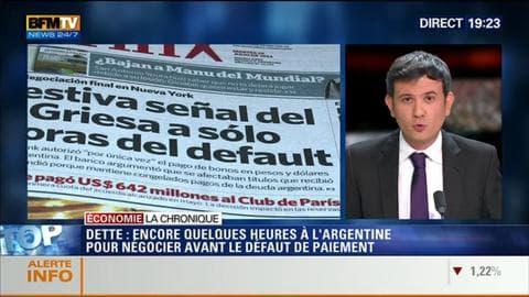 L'Éco du soir: Défaut de paiement: le compte à rebours s'accélère pour l'Argentine - 30/07