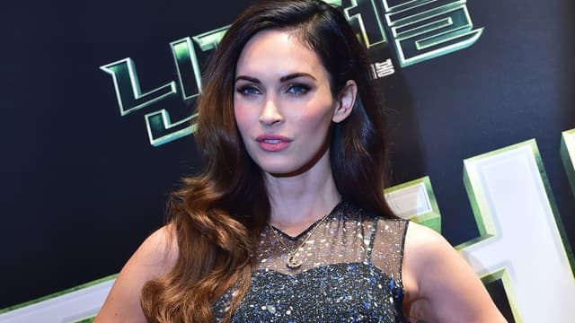 """Megan Fox lors de la première de """"Teenage Mutant Ninja Turtles"""" à Séoul en 2014"""