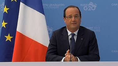 François Hollande s'est exprimé en marge du G20 de Saint-Petersbourg.