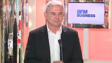 Thierry Lepaon, le futur patron de la CGT, était l'invité de BFM Business, mercredi 20 février.