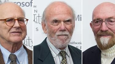 Les trois astrophysiciens récompensés par le prix Nobel de la physique