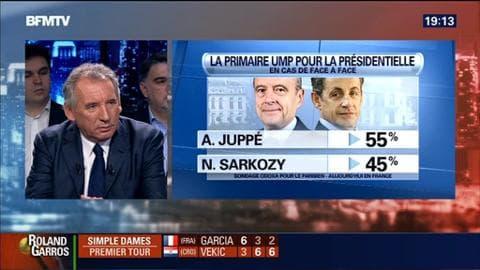 """François Bayrou dans BFM Politique: """"Primaire UMP: si Alain Juppé est choisi pour représenter la droite, je l'aiderais"""""""