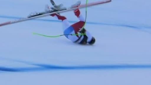 Marc Gisin victime d'une terrible chute