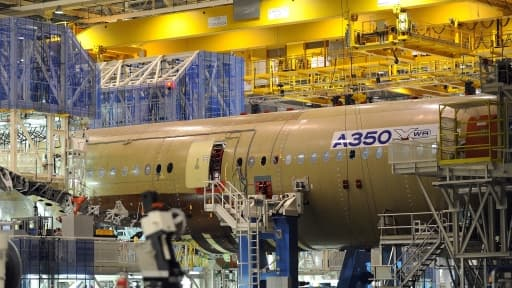 Airbus craint d'éventuelles charges sur son A350 en 2014.