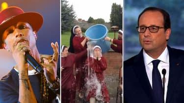 Pharrell Williams, François Hollande et le Ice Bucket Challenge font partie des sujets les plus commentés sur Facebook en 2014.