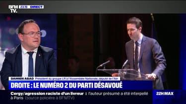 """Pour Damien Abad, Les Républicains ne doivent envisager """"aucune alliance ni de près ni de loin avec le Rassemblement national"""""""