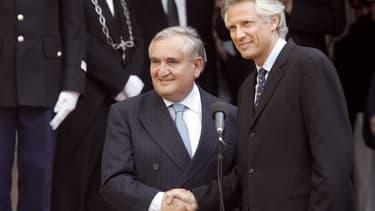 Jean-Pierre Raffarin et Dominique de Villepin