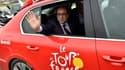 Le président françois Hollande en visite sur le Tour de France 2014.