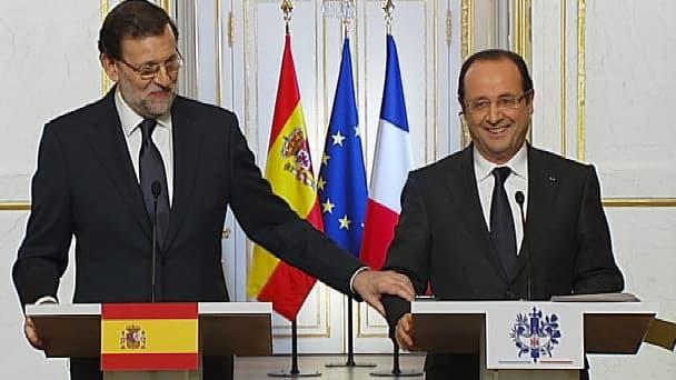 François Hollande et Mariano Rajoy