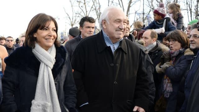 Anne Hidalgo et Marcel Campion en 2015.