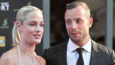 Oscar Pistorius et sa petite amie Reeva Steenkamp.