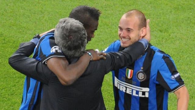 Mourinho, Sneijder et Balotelli