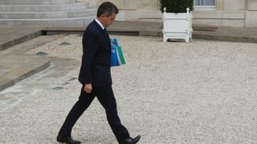 Le ministre de l'Intérieur Gérald Darmanin, le 15 juillet 2020 dans la cour de l'Elysée, après le conseil des ministres