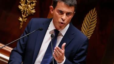 Manuel Valls, mardi, face à l'Assemblée nationale.