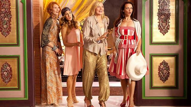"Cynthia Nixon, Sarah Jessica Parker, Kim Catrall et Kristin Davis dans ""Sex and the city 2"" en 2010."