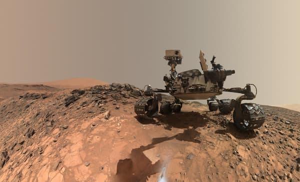 Robot Curiosity sur Mars en 2018