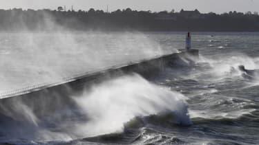 Les vents ont soufflé fort en Bretagne.