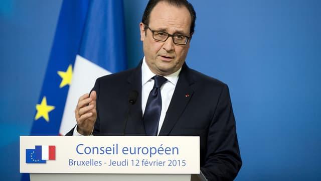 François Hollande a fait un point, jeudi soir, sur l'accord de paix signé à Minsk entre l'Ukraine, la Russie, la France et l'Allemagne.