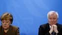Angela Merkel et Horst Seehofer le 14 avril 2016.