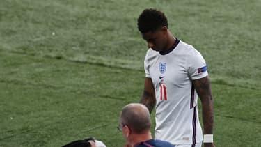 Marcus Rashford après son tir au but raté en finale de l'Euro 2021