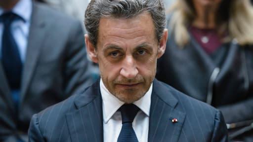 Nicolas Sarkozy à Berlin, lors de l'Allianz Forum le 28 février dernier.