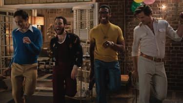 "Jim Parsons, Robin de Jesús, Michael Benjamin Washington et Andrew Rannells dans ""The Boys in The Band"""