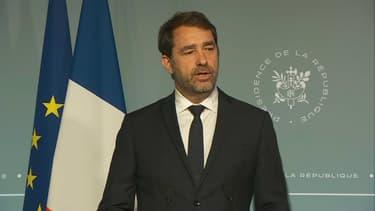 Christophe Castaner en conférence de presse, le 3 mai.