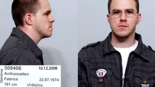 Fabrice Anthamatten. Image diffusée par la police de Genève
