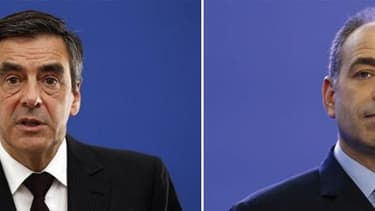 La crise est officiellement terminée à l'UMP, mais le compromis scellé entre Jean-François Copé et François Fillon a tout de la paix armée. /Photos d'archives/REUTERS/Eric Gaillard/Benoît Tessier
