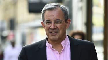 Thierry Mariani, près du quartier général du parti Les Républicains, le 11 juillet 2017 à Paris