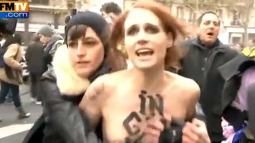 Une féministe opposante à la manifestation de Civitas