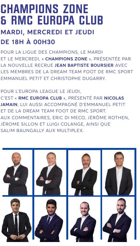 soirée europe rmc sport