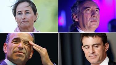 Ségolène Royal, François Bayrou, Jean-François Copé, Manuel Valls