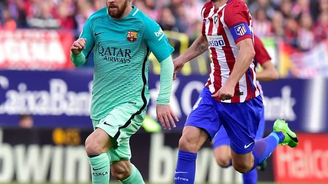 Lionel Messi contre l'Atlético Madrid - AFP