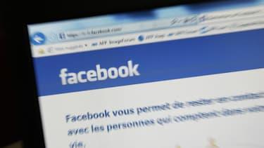 Page d'accueil de la plateforme Facebook