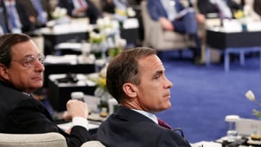 Mario Draghi vendredi au FMI à Washington