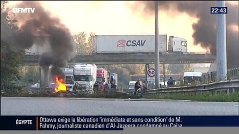 Le blocage de l'autoroute A1 fait polémique