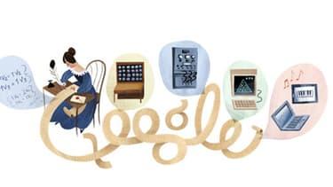 """Ada Lovelace, """"première programmeuse du monde"""" a son doodle"""