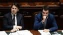 Le chef du gouvernement, Giuseppe Conte, et le ministre de l'Intérieur, Matteo Salvini, le 6 juin 2018 à Rome.