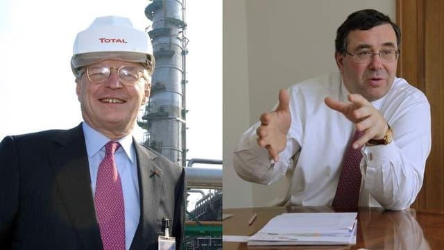 Thierry Desmarest (à gauche) va donc remplacer Christophe de Margerie, en tant que président de Total