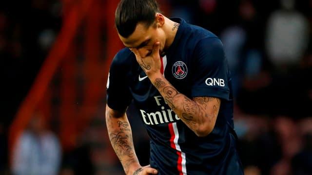 PSG-Caen : la déception de Zlatan Ibrahimovic