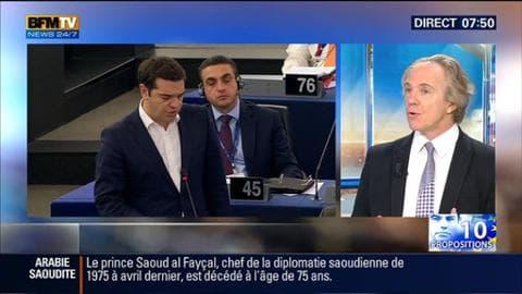 """""""L'Europe va être obligée de compter sur Tsipras pour faire accepter ces mesures aux Grecs"""" - 10/07"""